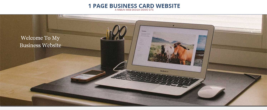 1 page business card site