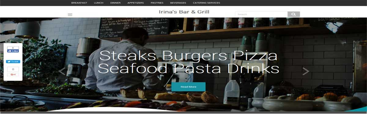 irinas bar and grill website image