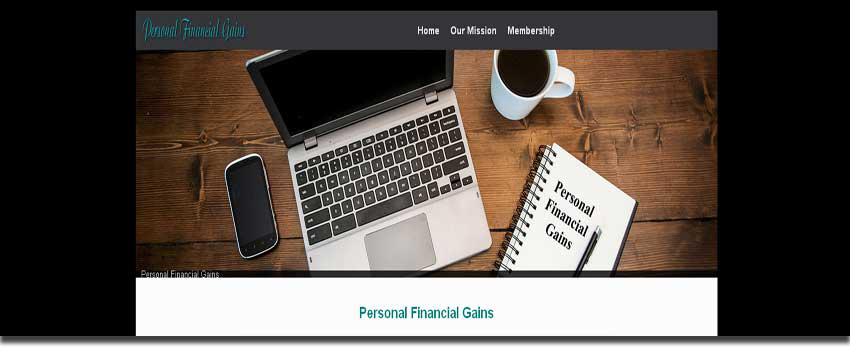 personal financial gains website image